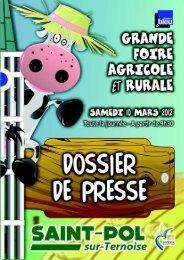 consulter le dossier de presse de la foire agricole - Saint-Pol-sur ...