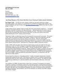 San Diego Museum of Art Press Release for the Calder Jewelry ...