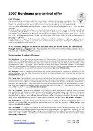 RC Bordeaux offer 08.. - Rathdowne Cellars