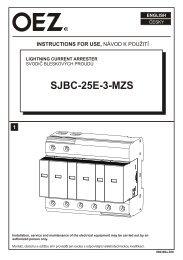 Svodič bleskových proudů - SJBC-25E-3-MZS - OEZ
