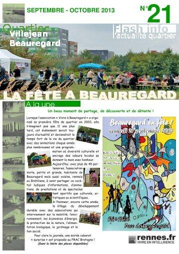 Flash-Info n° 21 - septembre - octobre 2013 - Ville de Rennes