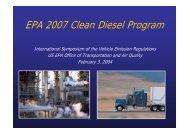 EPA 2007 Clean Diesel Program