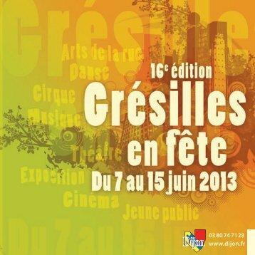 Télécharger le programme de Grésilles en Fête - Zutique Productions