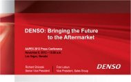 DENSO: Bringing the Future to the Aftermarket