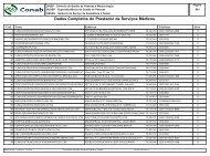 Dados Completos do Prestador de Serviços Médicos - Conab