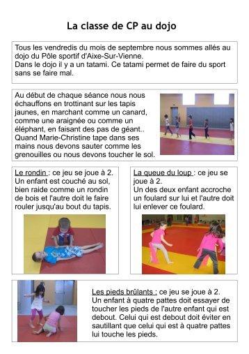 La classe de CP au dojo - Saint-Priest-sous-Aixe