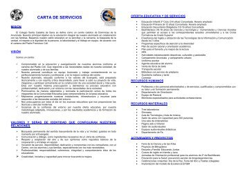 Carta de Servicios DEFINITIVA - Colegio Santa Catalina de Sena
