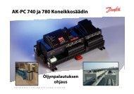 AK-PC 740 ja 780 Koneikkosäädin