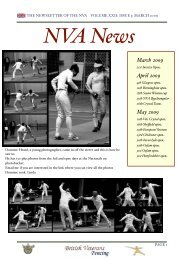 NVA Newsletter March 2009 HA - Veterans Fencing!