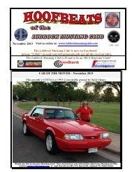 November Newsletter - Lubbock Mustang Club