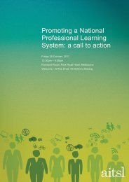 Promoting a National Professional Learning System: a call to action