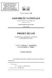ASSEMBLÉE NATIONALE PROJET DE LOI - Association des ...