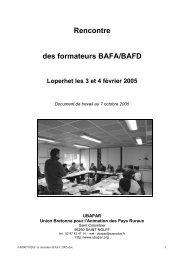 Rencontre des formateurs BAFA/BAFD Loperhet les 3 et 4 ... - Ubapar