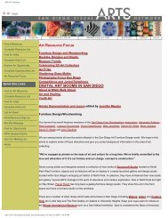 2006 past Art Resource Focus - San Diego Visual Arts Network