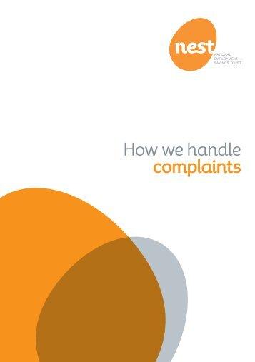 How we handle complaints (PDF, 154KB) - Nest