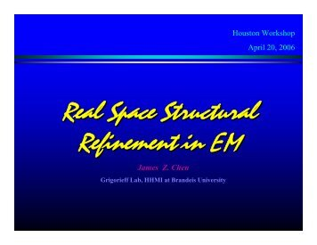 Real Space Structural Refinement in EM - Situs