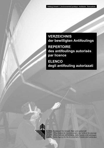 VERZEICHNIS der bewilligten Antifoulings ... - bewuchs-atlas.de