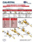 RIM AND MORTISE CYLINDERS - Cal-Royal - Page 3