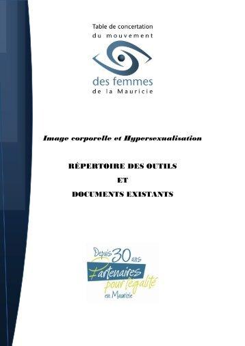 Image corporelle et Hypersexualisation RÉPERTOIRE DES OUTILS ...