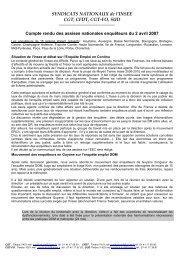 CR des assises nationales du 2 avril 2007 - cgt-insee