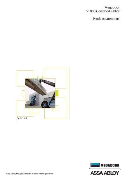Megadoor S1000 Gewebe-Hubtor Produktdatenblatt - Crawford hafa ...