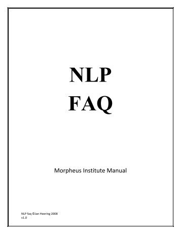 NLP faq - Phobia Fear Release