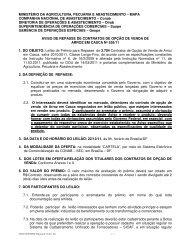 MINISTÉRIO DA AGRICULTURA, PECUÁRIA E ... - Conab