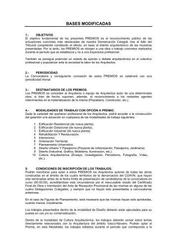 Premios COAVN de Arquitectura - Colegio Oficial de Arquitectos ...