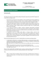 resolution proposal on defence - Union of European Federalists