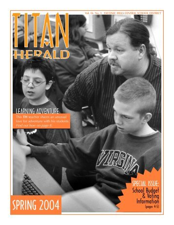 Spring 2004 (Budget edition) - Taconic Hills Central School District