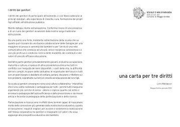 una carta per tre diritti - Scuole e Nidi d'Infanzia