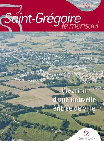 Saint-Grégoire, le Mensuel Octobre 2011