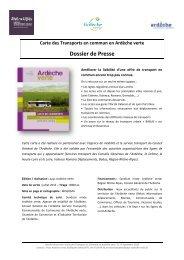 Dossier de presse carte Transport 2012 - Syndicat Mixte Ardèche ...