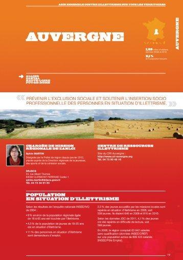 Télécharger l'état des lieux 2012_AUVERGNE - Agence Nationale ...