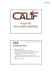 Présentation de l'ASBL CALIF - CSEF Mons