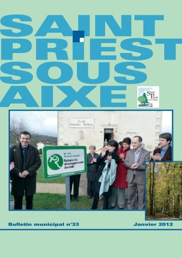 Janvier 2012 Bulletin municipal n°33 - Saint-Priest-sous-Aixe
