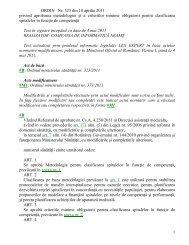 ORDIN Nr 323 din 2011 metodologie si criterii minime clasificare ...