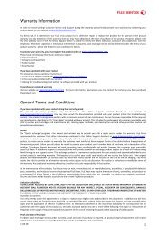 Warranty Information General Terms and Conditions - Fuji Xerox ...