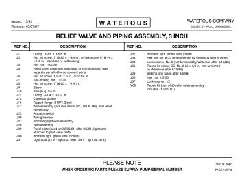 "SPL81587, 3"" Pump Mounted Valve and Piping - Waterous"