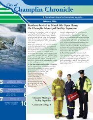 City of Champlin Chronicle - The Prime Guide