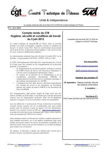Compte Rendu CTR HS 2012 05 06 - cgt-insee
