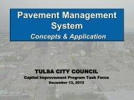 Pavement Management - The City of Tulsa Online