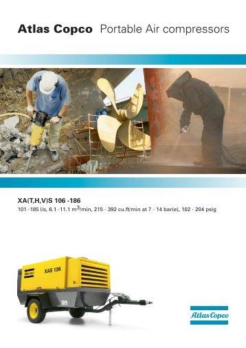Atlas Copco Portable Air compressors