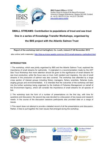 small streams report final - The Atlantic Salmon Trust