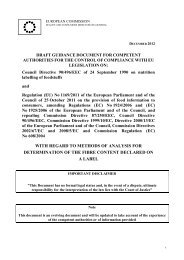 DRAFT GUIDANCE DOCUMENT FOR COMPETENT AUTHORITIES ...