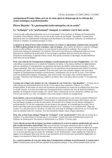 """Pierre Hazette: """"Le partenariat école-entreprise est en route"""" - Sysfal"""