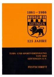 Festschrift zum 125-jährigen Vereinsjubiläum - Tuspo 1861 ...