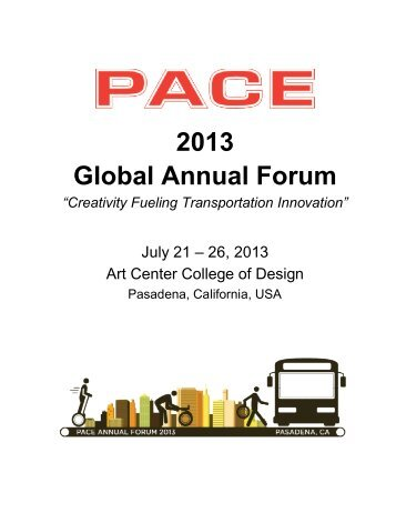 2013 Global Annual Forum - PACE