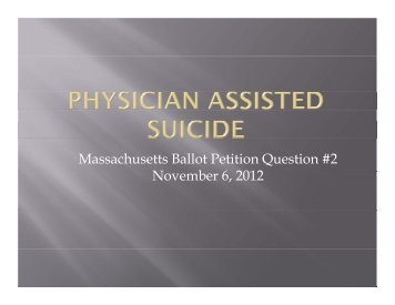 Massachusetts Ballot Petition Question #2 N b 6 2012 November 6 ...