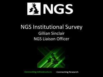 NGS Institutional Survey.pdf - National Grid Service (NGS)